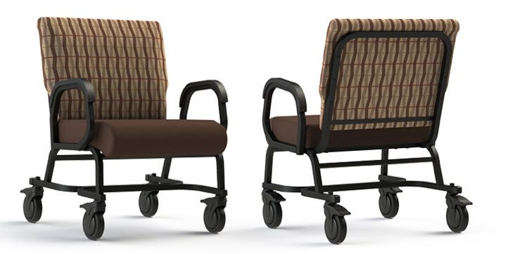 Wondrous Titan Bariatric Rolling Transport Chair With Casters Evergreenethics Interior Chair Design Evergreenethicsorg