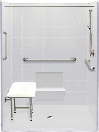 Wheelchair Accessible Bathroom Handicap Accessible Roll In Shower Ada Bathroom