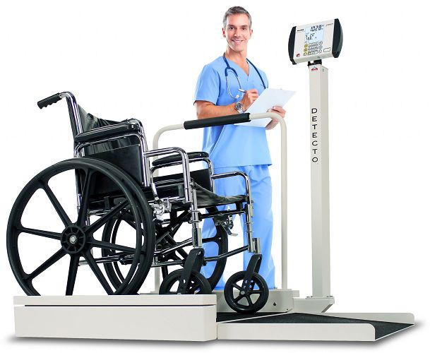 Detecto Stationary Digital Wheelchair Scale