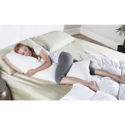 Ellipse Memory Foam Body Pillow With Bamboo Cover