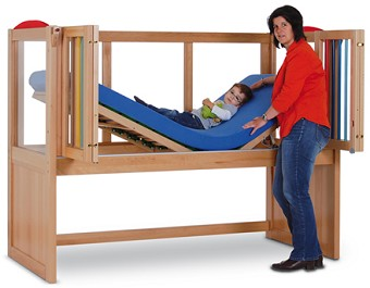 Hospital Bed Fixed Height With Rails And Mattress