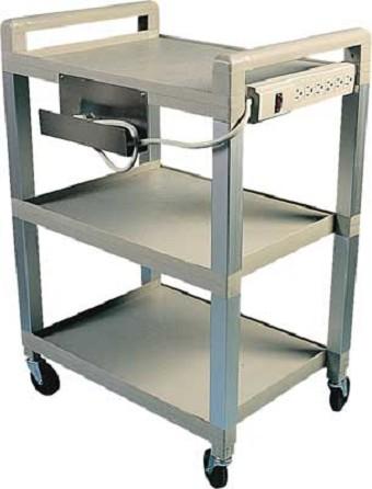 poly 3 shelf easy roll cart - Rolling Utility Cart