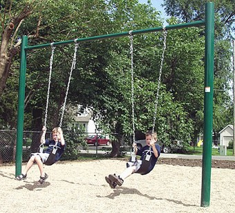 Playground equipment commercial playground equipment on for T shaped swing set
