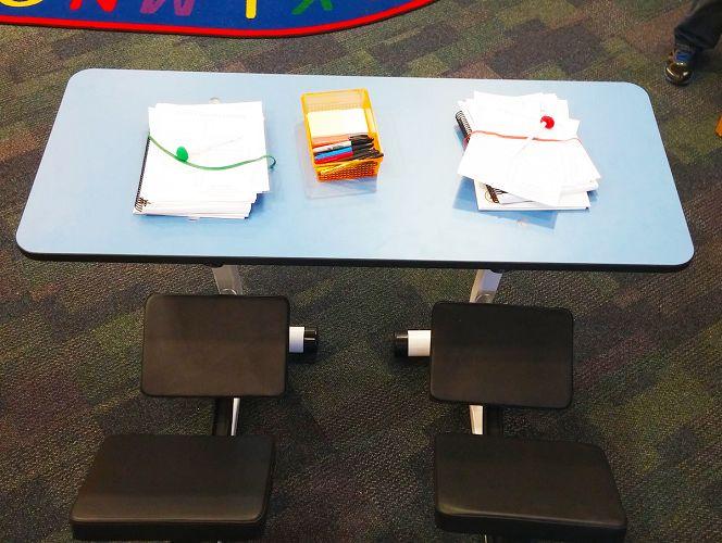 Incredible Kidsfit Kinesthetic Classroom Ergo Spin Desk Andrewgaddart Wooden Chair Designs For Living Room Andrewgaddartcom
