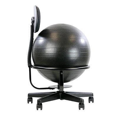 Metal Exercise Ball Chair Base with Backrest