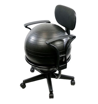 Metal Exercise Ball Chair Base With