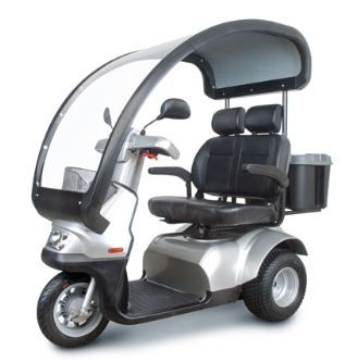 : Afiscooter S 4-Wheel with dual seat and roof